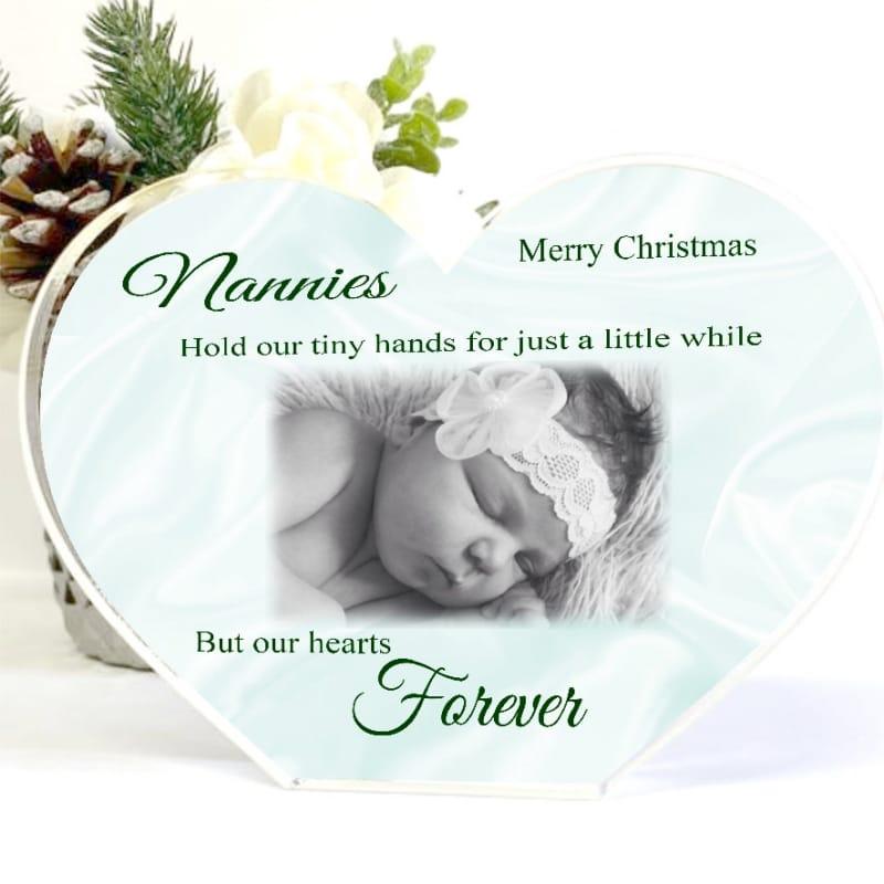 Acrylic Heart Nan Christmas Photo Block - tiny hands