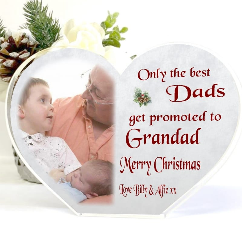 Christmas Acrylic Heart Block - Only the best Dads