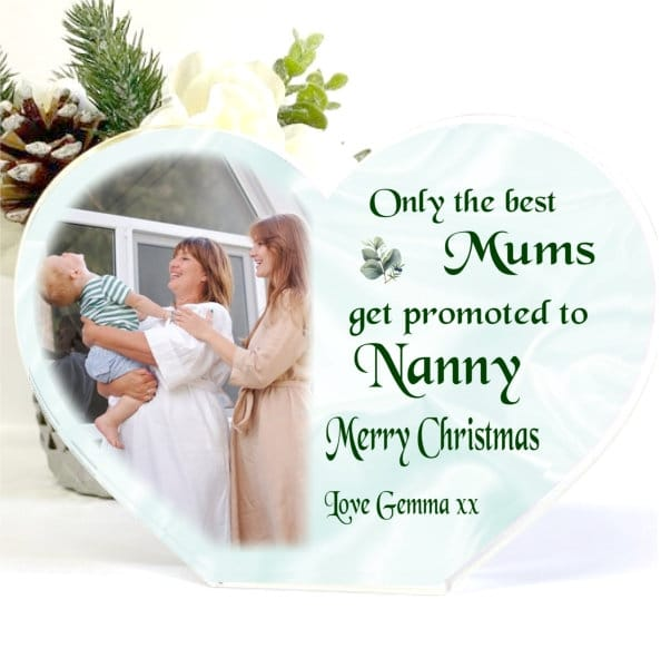 Christmas Acrylic Heart Block - Only the best mums