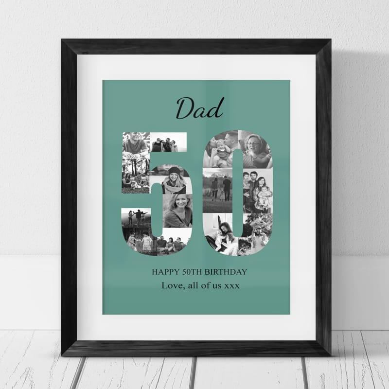 50 Birthday Photo Collage- Dad