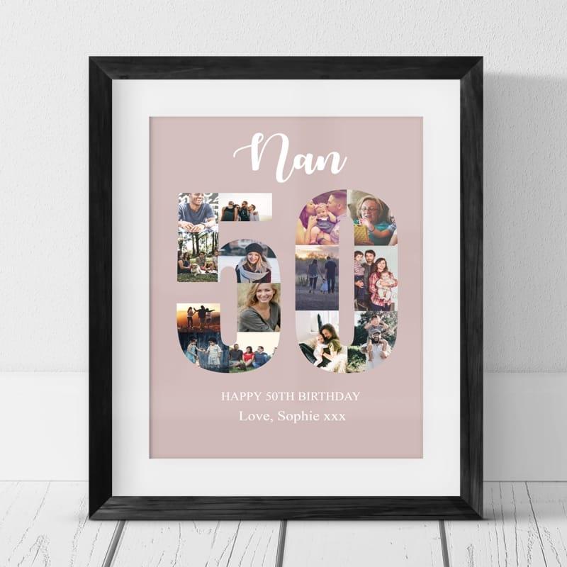 50 Birthday Photo Collage- Nan