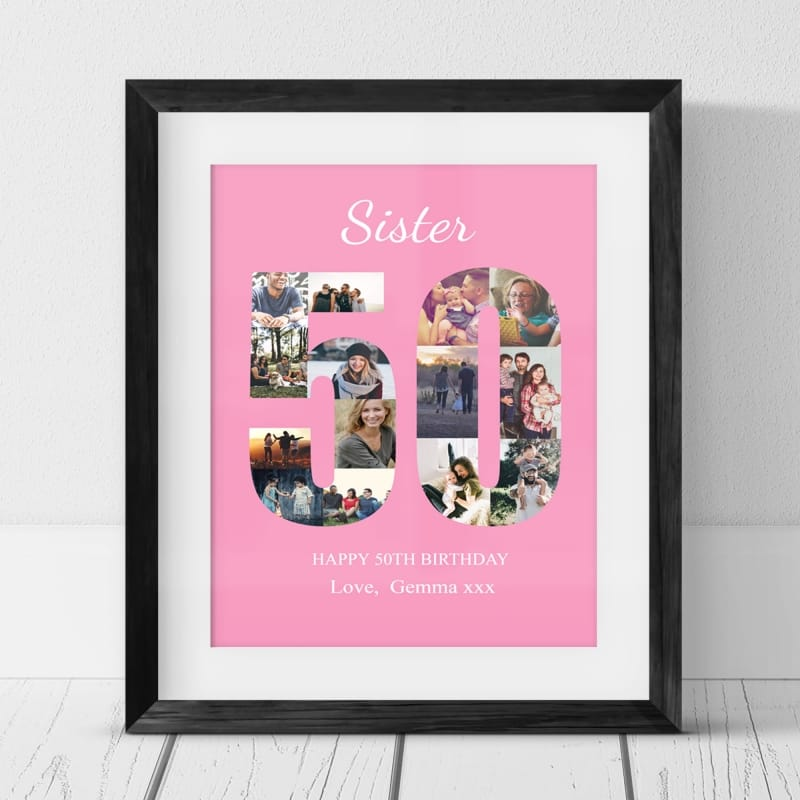 50 Birthday Photo Collage- Sister