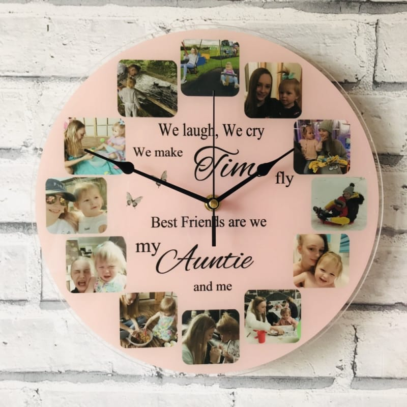 Personalised clock - We laugh, we cry...