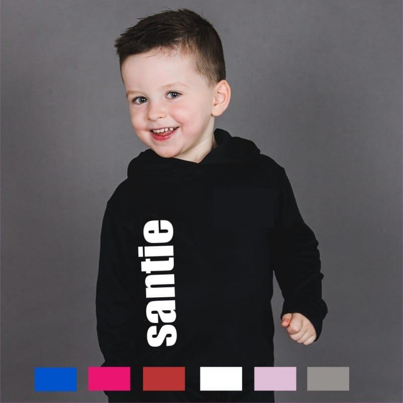 Personalised large name hoodie