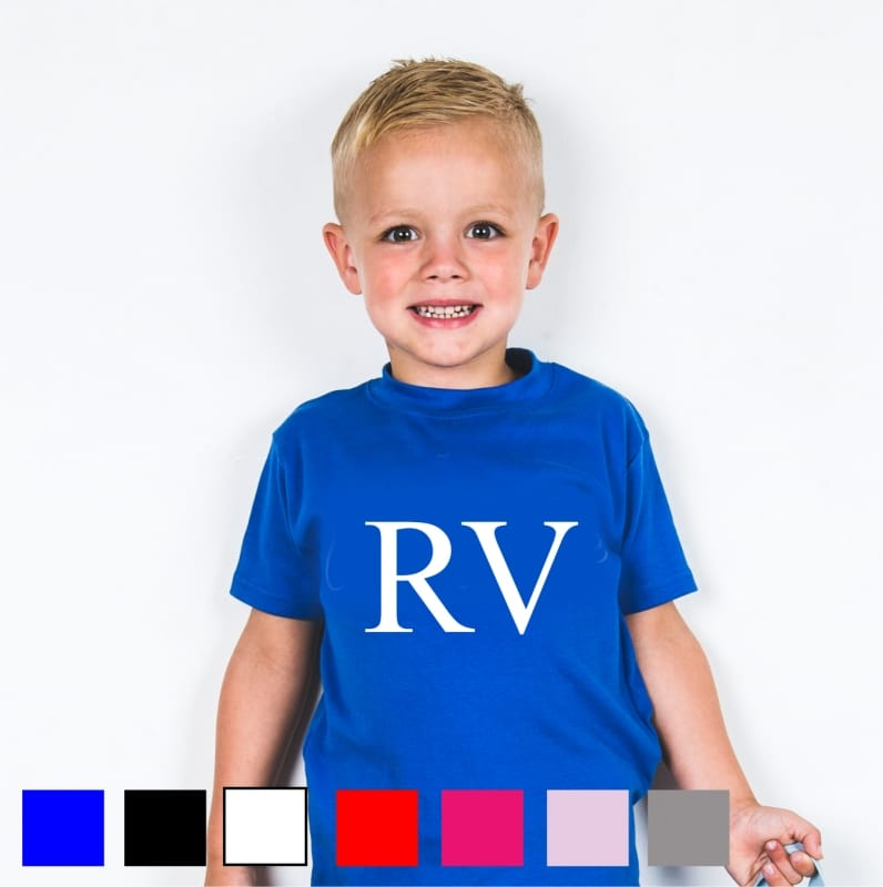 """Personalised """"large initials"""" T-shirt"""