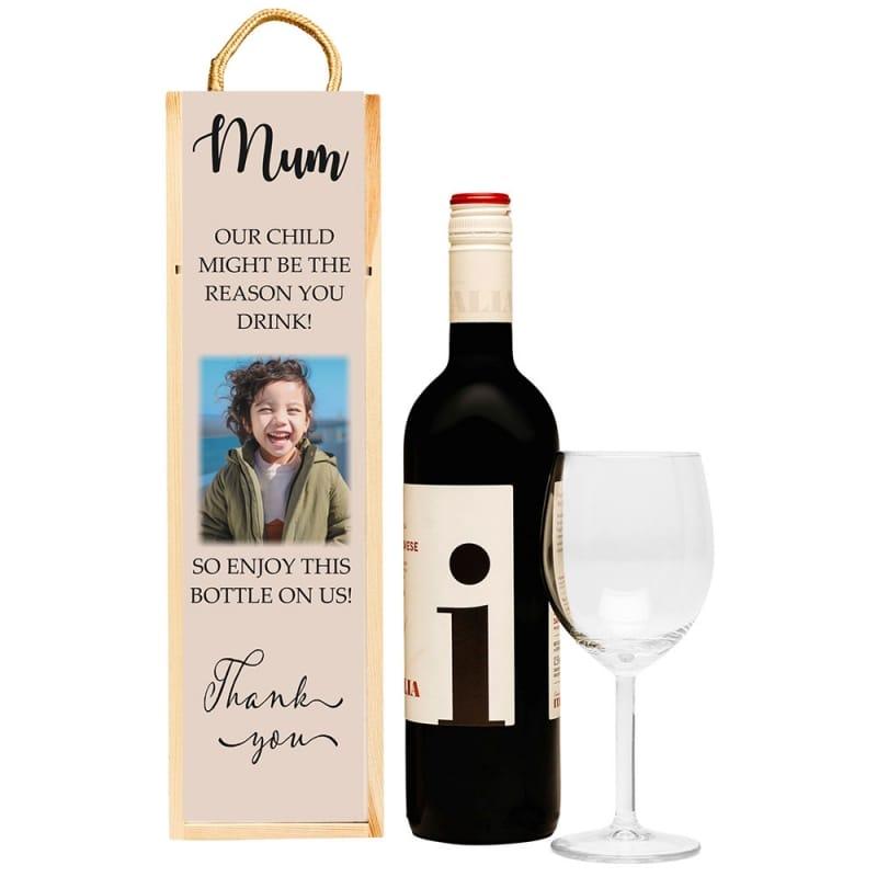 Personalised Teacher's bottle box