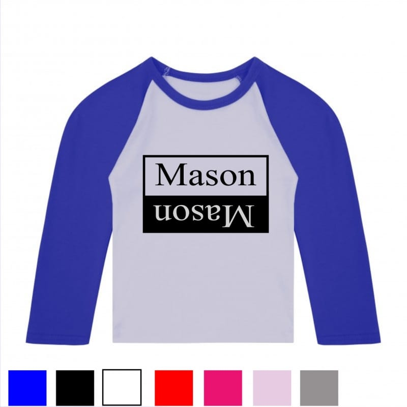 Personalised double name baseball T.shirt