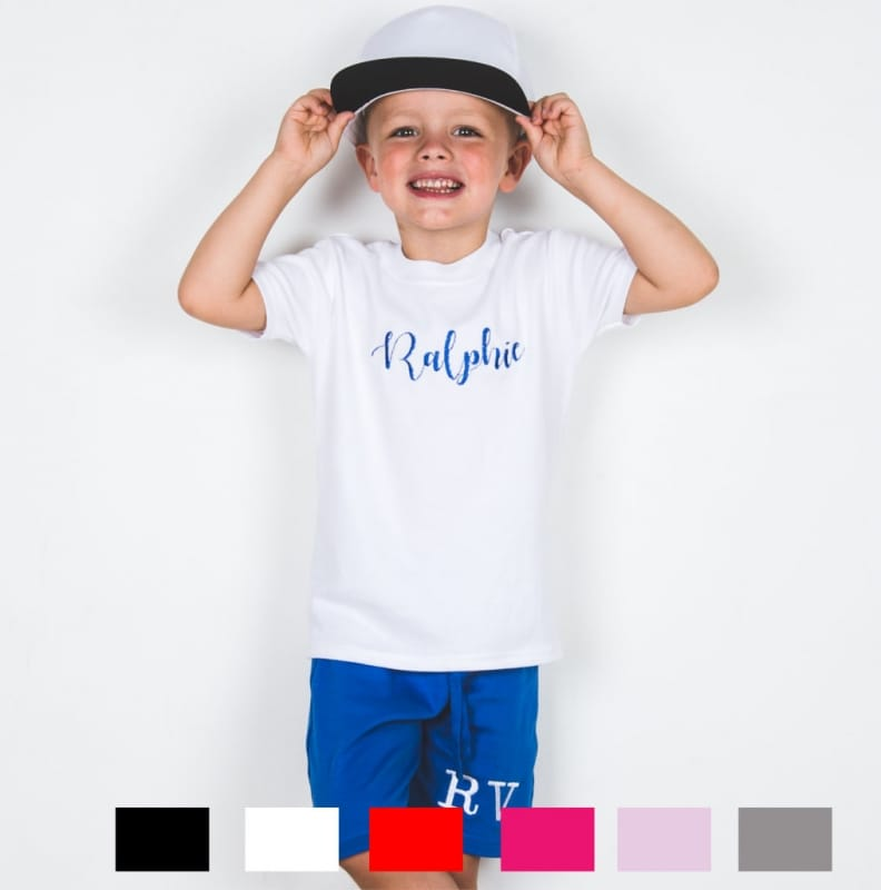 Personalised Embroidery decorative font t.shirt
