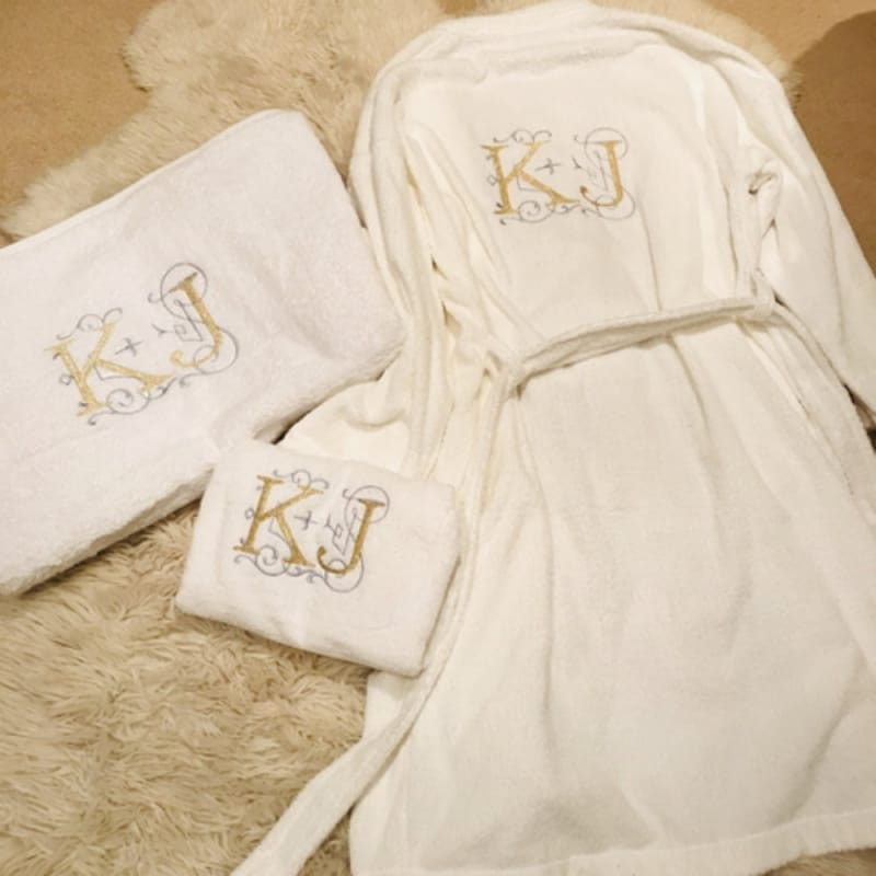 Personalised Embroidery Initials Luxury Robe