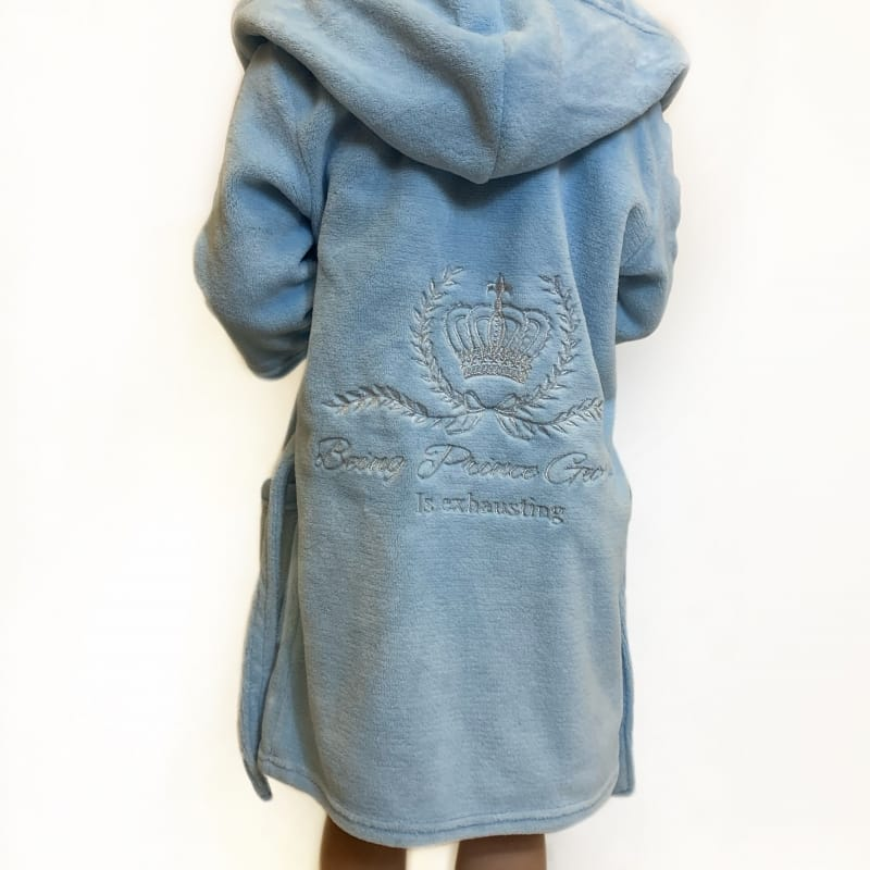 Personalised Embroidered Prince Dressing Gown