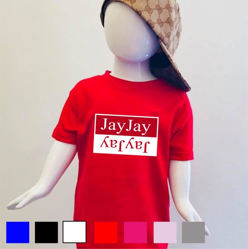 Personalised double name T-shirt