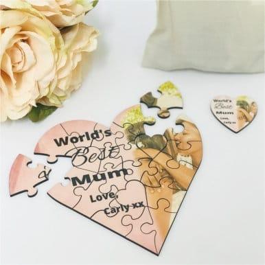World's best -  jigsaw heart