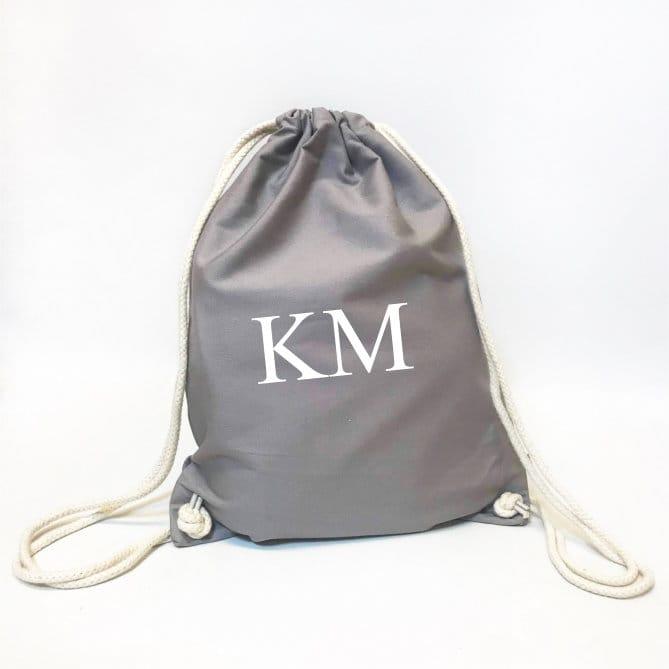Personalised Organic Gym Bag - Initials