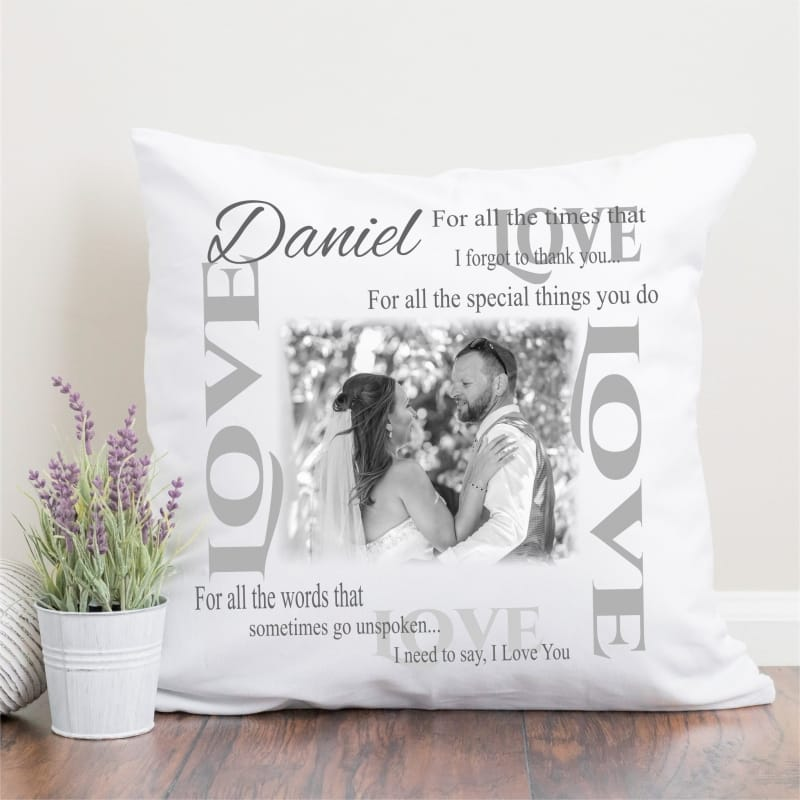 Personalised Thank you gift - Cushion (add any name)