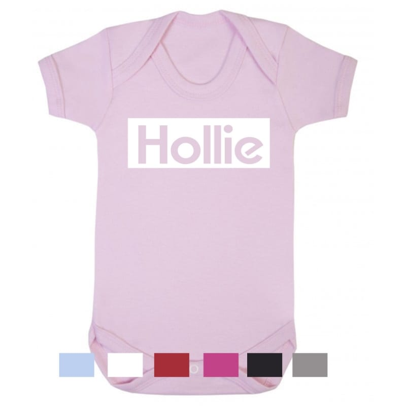 Personalised kid's name bodysuit