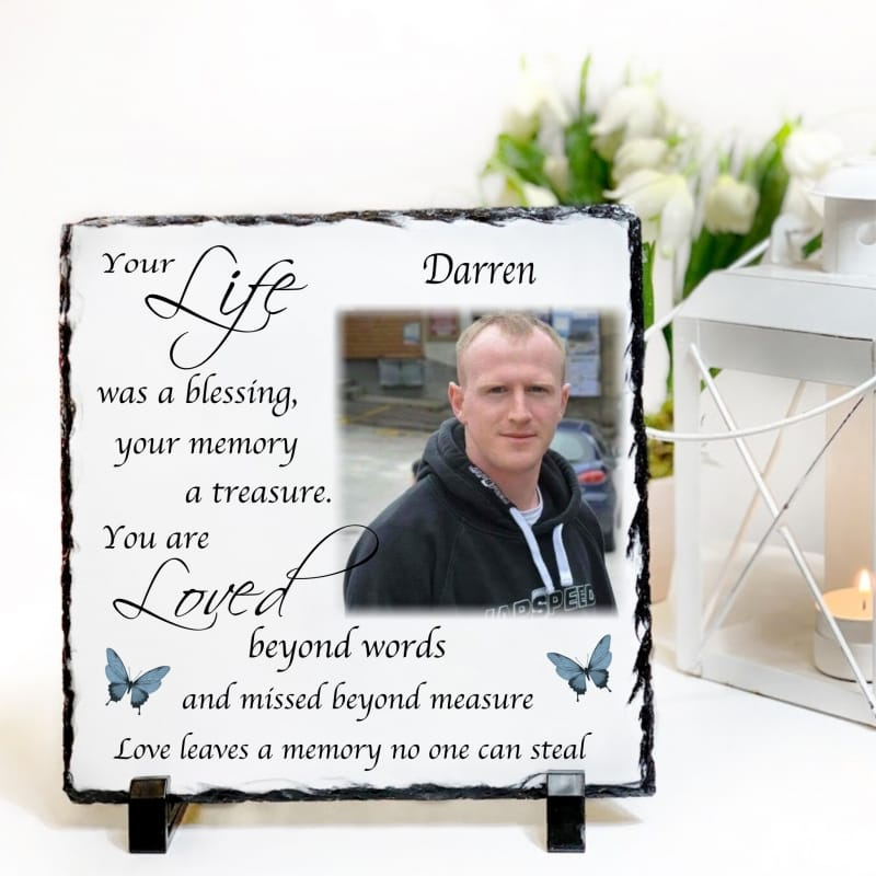 Personalised Photo Remembrance Slate