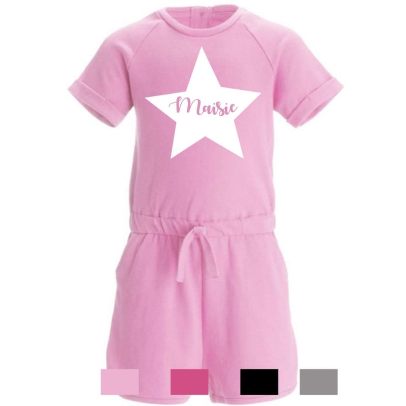 Personalised star name playsuit