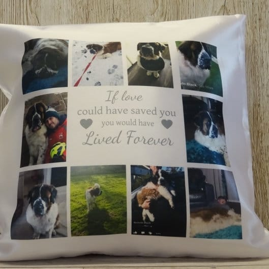 Personalised cushion - Lived forever