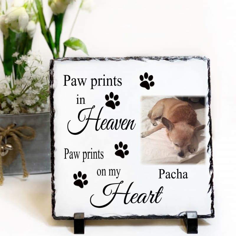 Personalised Slate - Paw Prints