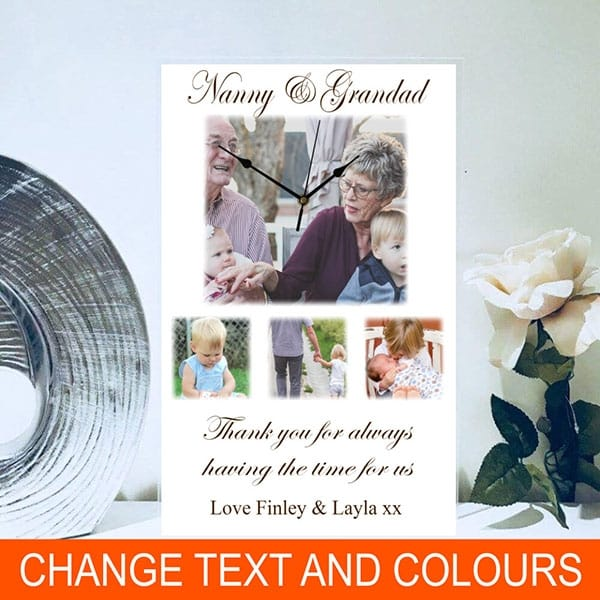 Personalised rectangle photo clock, for any recipient