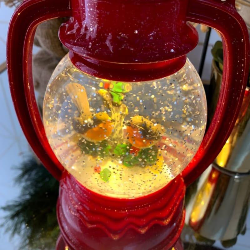 Robin Snow Globe Red - Remembrance