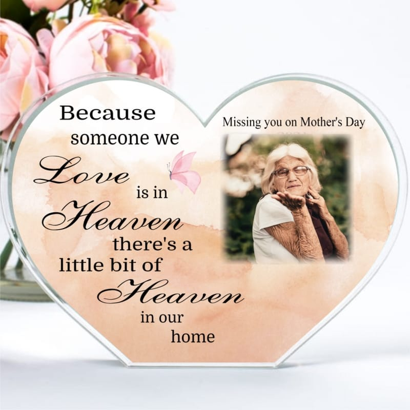 Personalised Mother's Day Heaven Heart Block