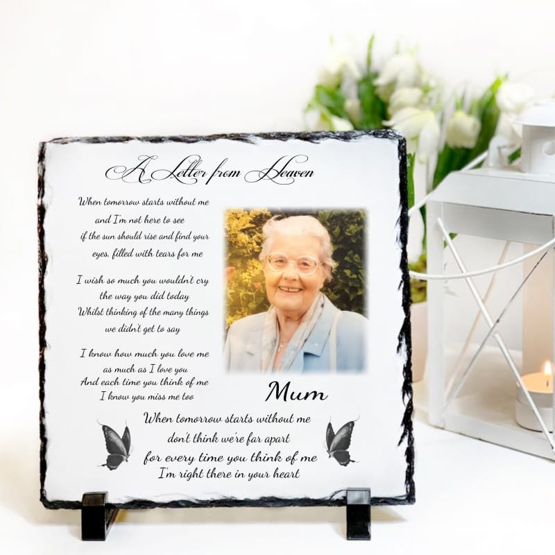 Personalised Slate: Letter From Heaven