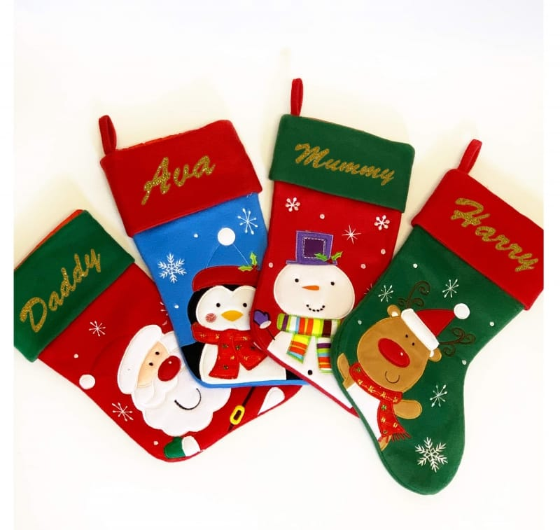 Glitter Name Red Green Rudolph