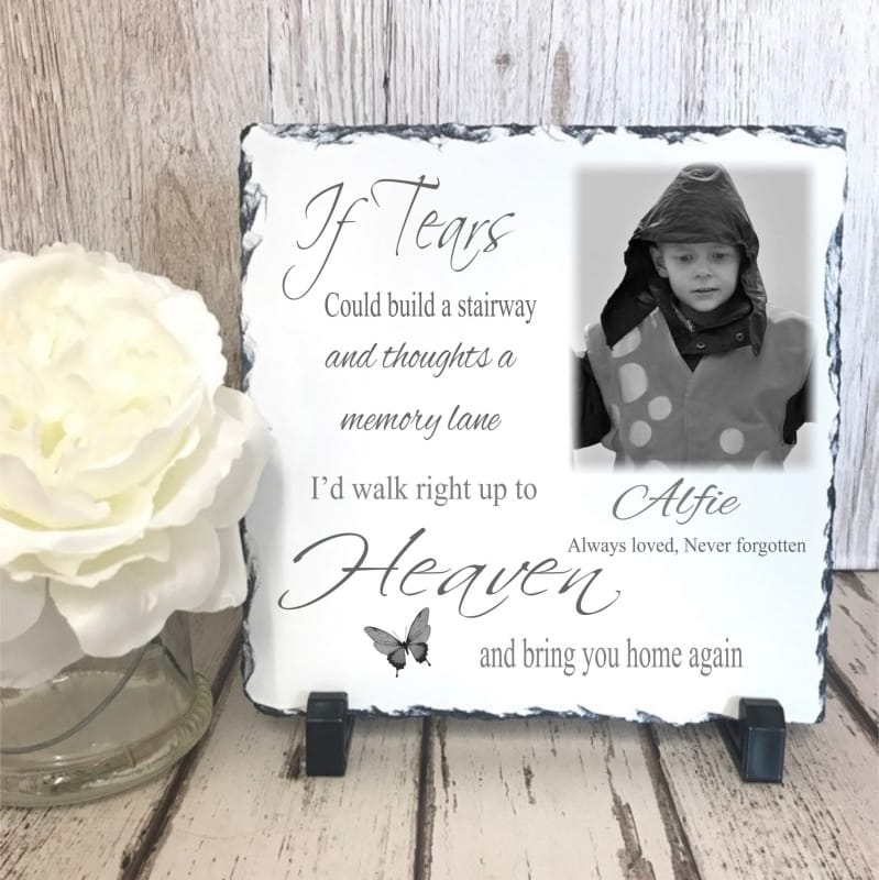 Personalised Slate: If Tears Could Build..