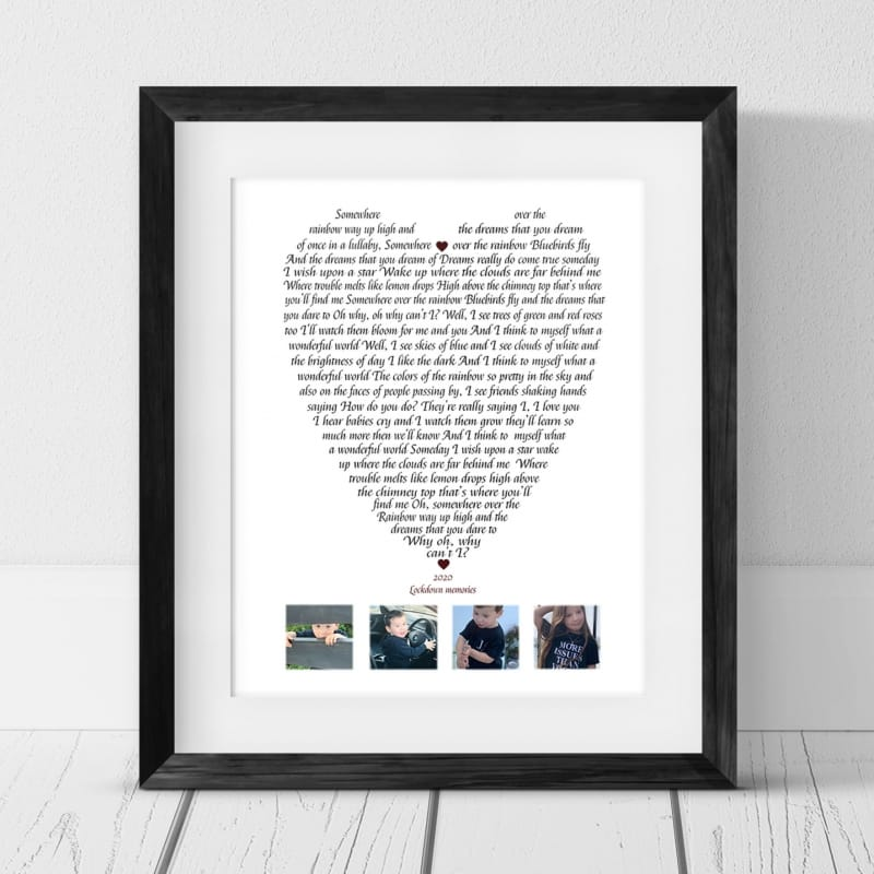 Personalised Keepsake -Lyrics Somewhere over the rainbow