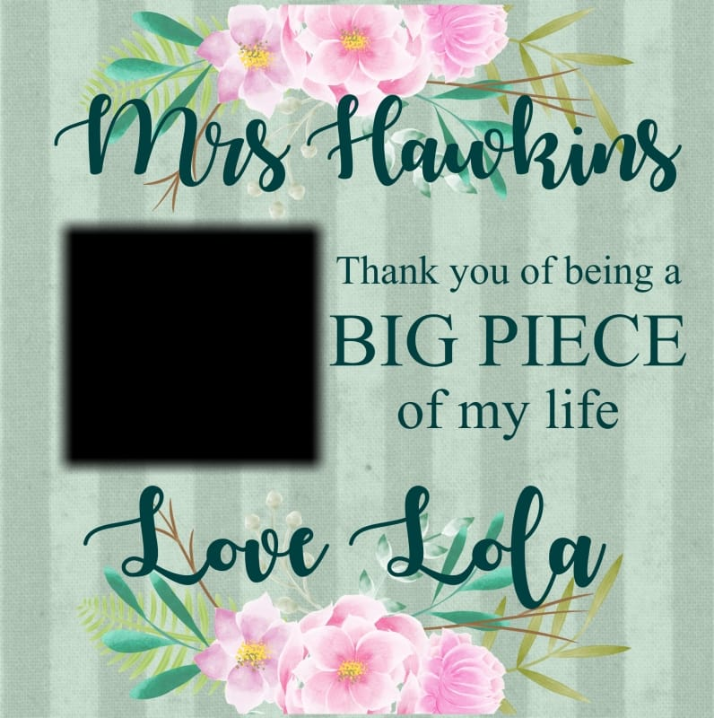 Personalised Jigsaw - Thank You Teacher Gift