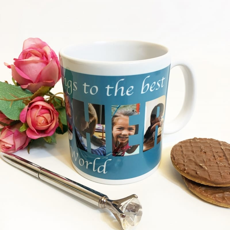 Teacher Photo Letters Mug