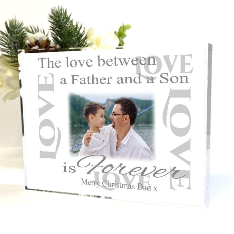 Christmas Photo Block Dad - The love between