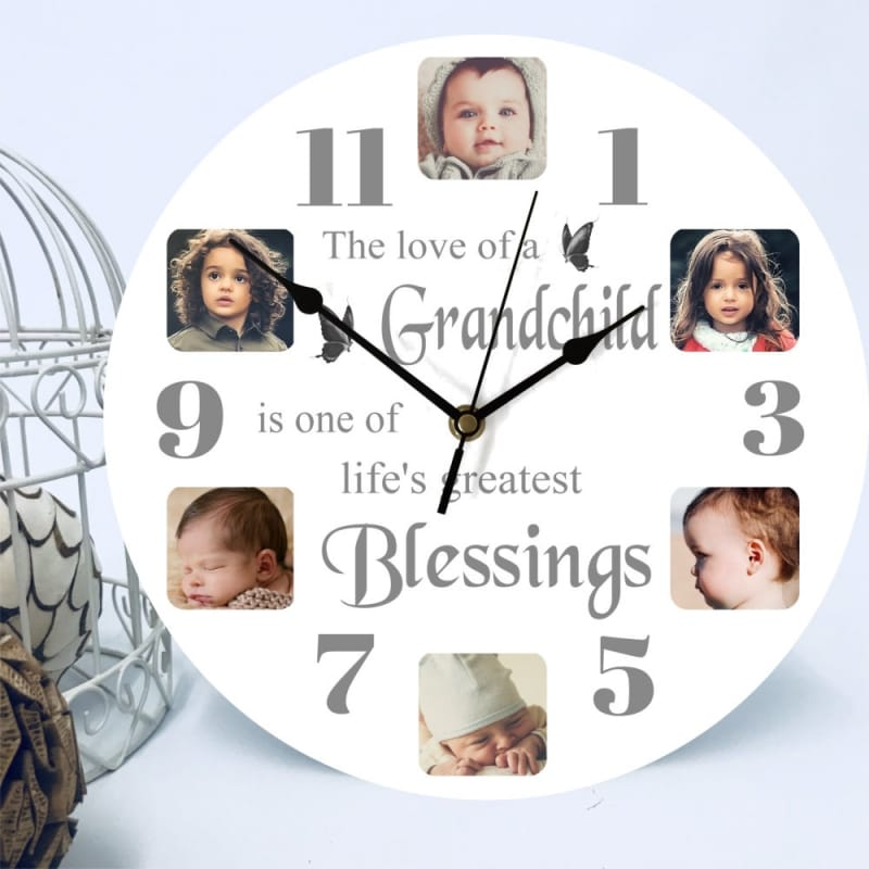 6 photo clock- the love of a family