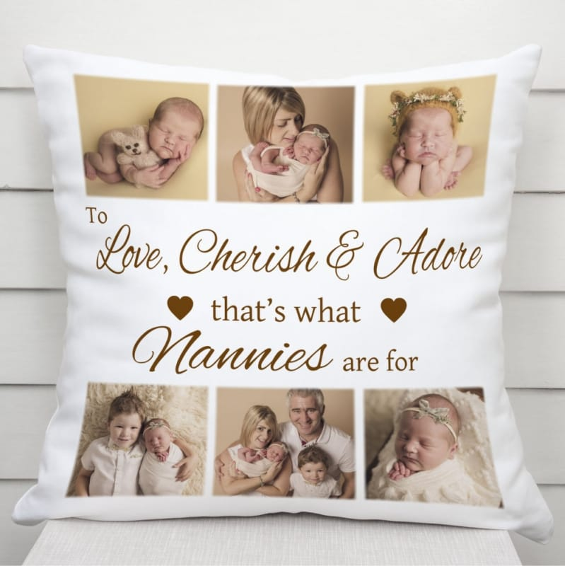 To love, cherish and adore personalised cushion