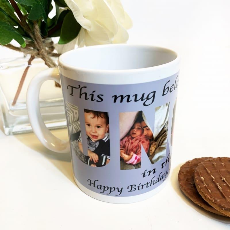 Uncle Photo Letters Mug