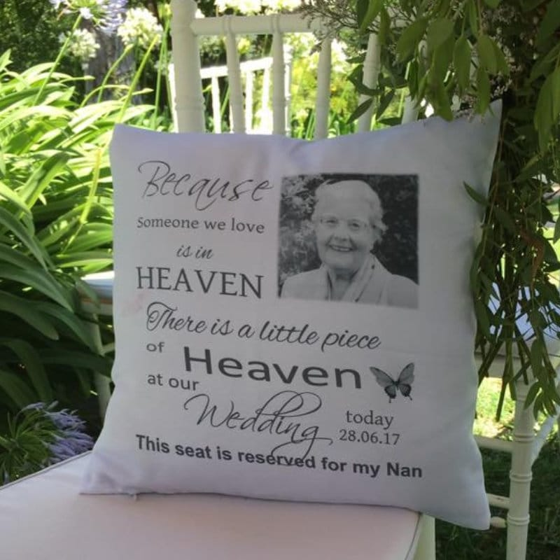 Personalised cushion - Wedding remembrance