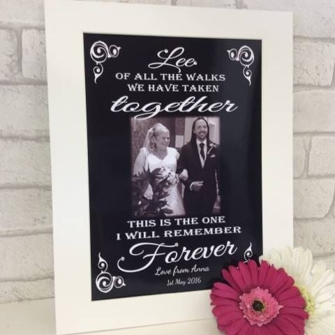 Personalised Photo Gift - Wedding walk
