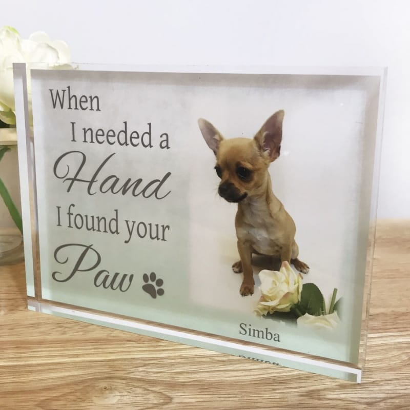 When I Needed A Hand Pet Photo Block