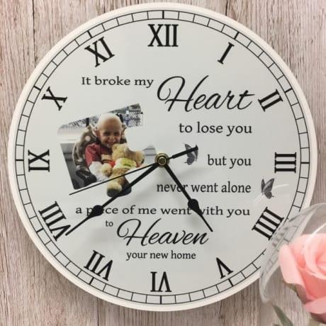 Personalised Clock - It broke my heart...