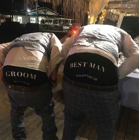 Personalised Grooms man wedding day boxers