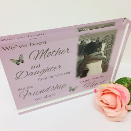 Personalised Photo block - Mother and Daughter