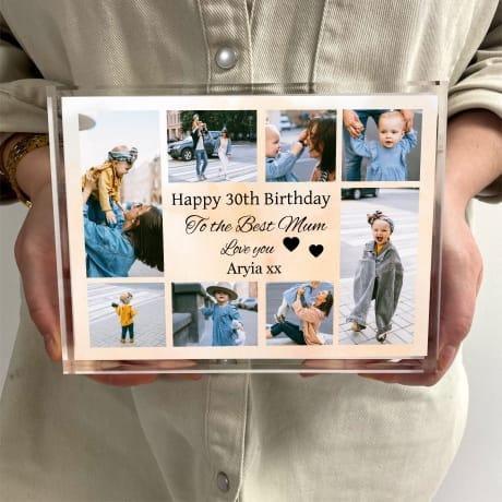 Birthday Collage Photo Block