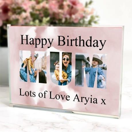 Mum personalised photo block collage Birthday