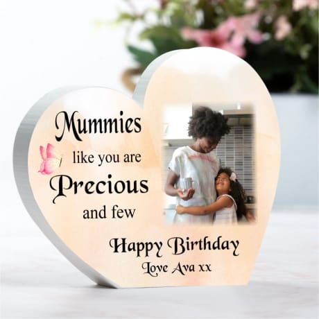 Personalised Wooden Birthday Heart - Precious and few