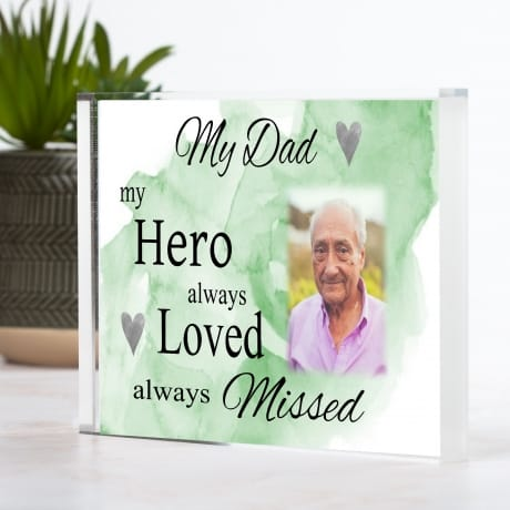 Personalised remembrance : Always loved block