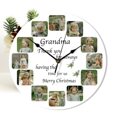 Christmas Nan clock - Having the time for us