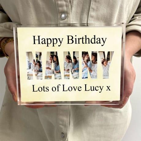 Nanny Photo letters Birthday Block