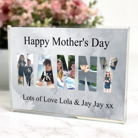 Nanny Photo Block letters Mother's day