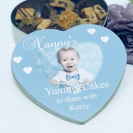 Personalised Heart cake tin